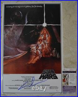 George Lucas Signed 12x18 Poster with JSA COA #Q49674 Star Wars Photo