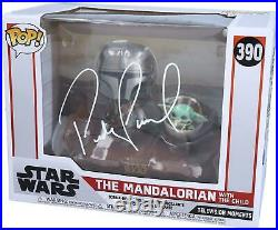Pedro Pascal Star Wars The Mandalorian With the Child Signed #390 Funko Pop