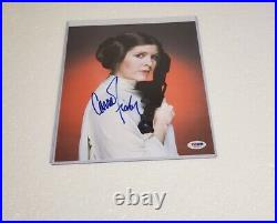 Princess Leia Carrie Fisher signed photo PSA DNA (Star Wars)