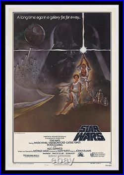 STAR WARS ACTUAL1977 PRINTED Style A 27x41 ROLLED NEVER-FOLDED MOVIE POSTER