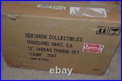 Sideshow #2147 Star Wars 1/6 Scale Jabba the Hutt's Throne Set NEW IN SEALED BOX