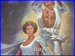 Star Wars 1977 Original Movie Poster Style A Vintage Darth Vader Authentic Nm
