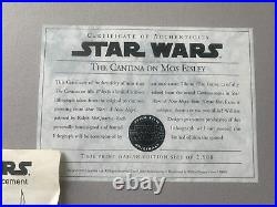 Star Wars A New Hope The Cantina on Mos Eisley Ralph McQuarrie Signed 968/2500