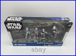 Star Wars The Clone Wars Battle Packs Arc Troopers, Brand New