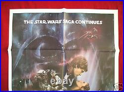 Star Wars The Empire Strikes Back 1980 Original Movie Poster Int'l Gwtw Style A